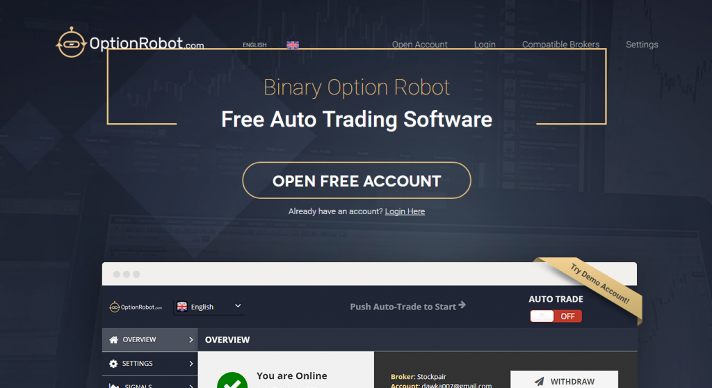 Binary options robot auto trading software for australians