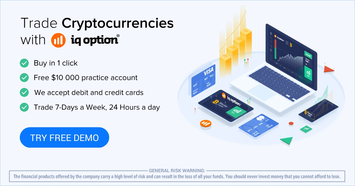 Trade cryptocurrencies with Iq Option