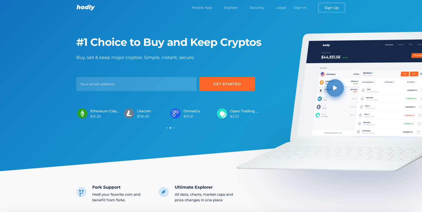 Hodly - a crypto-currency wallet from the IQ Option