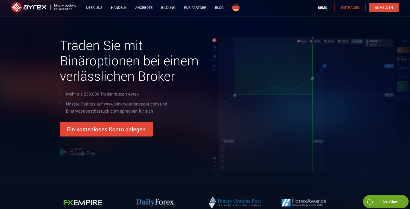Binäre optionen broker - Ayrex