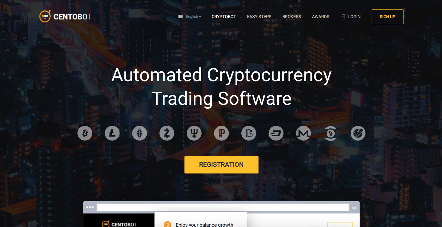 Centobot automated cryptocurrency trading software