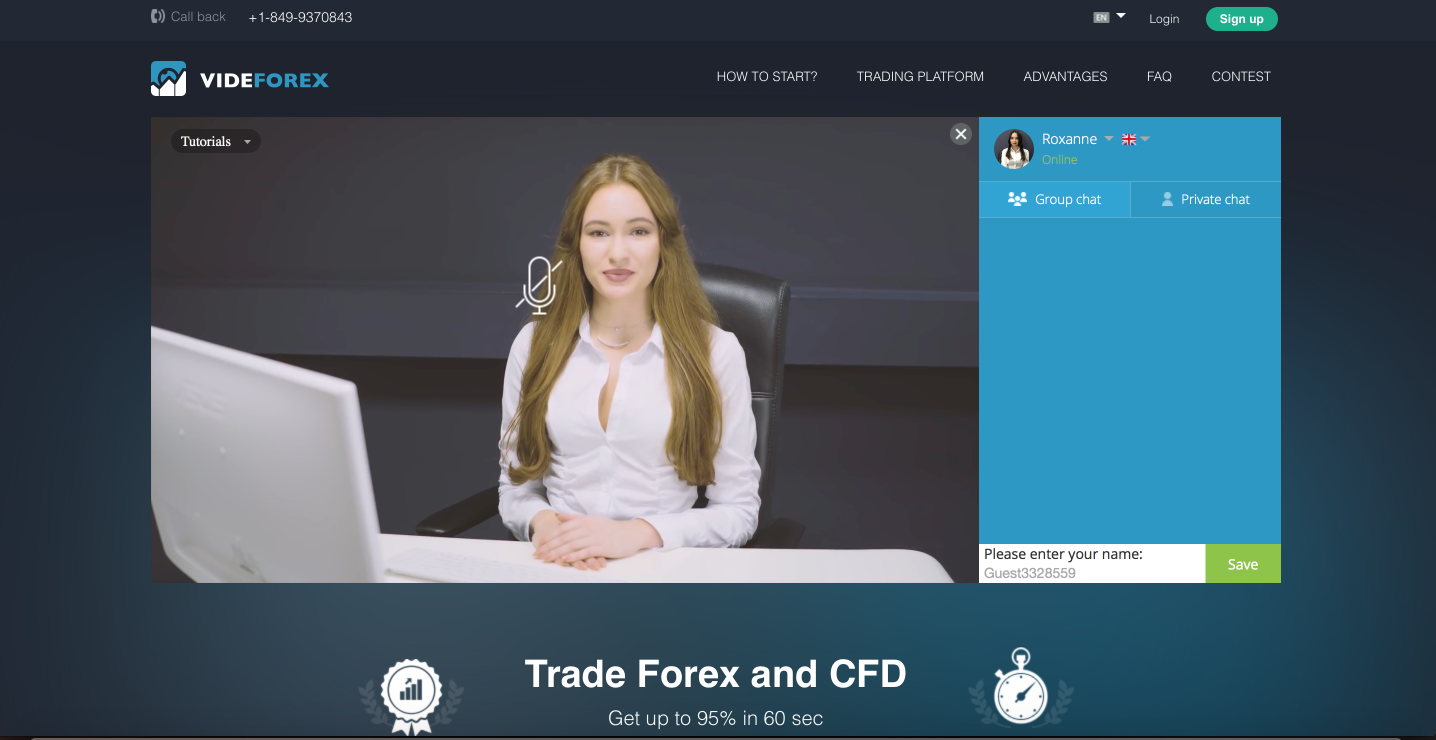 Forex and CFD Trading with Videforex