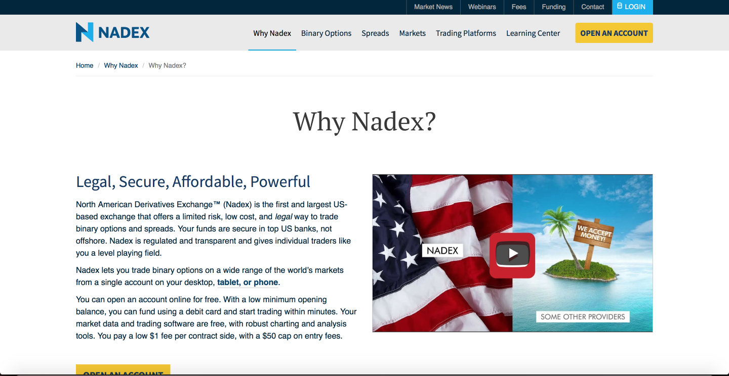 Why Nadex? | Nadex Binary Options