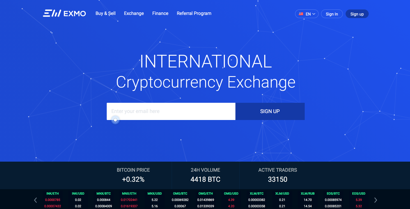 EXMO.com | Cryptocurrency Exchange. Buy and Sell BTC, ETH, DOGE, LTC