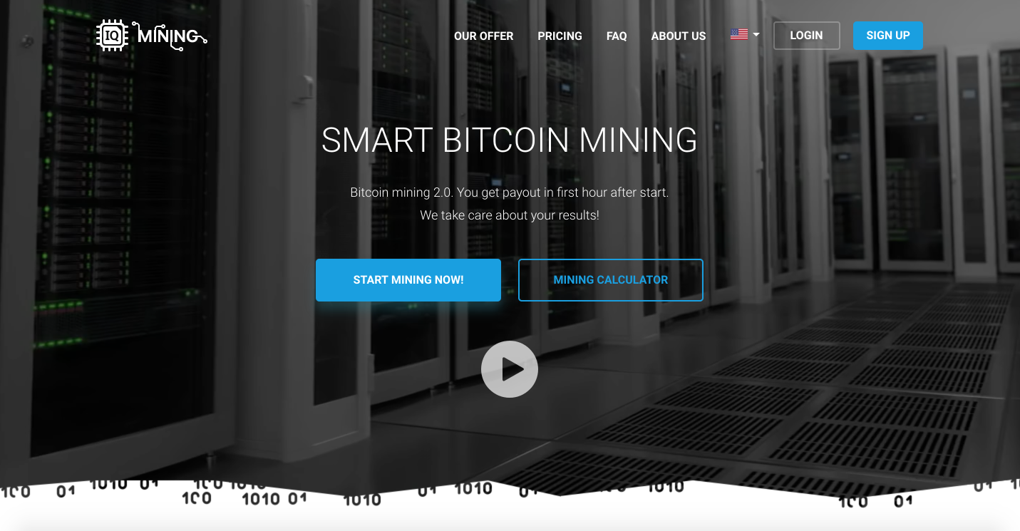 IQ mining - cryptocurrency cloud mining