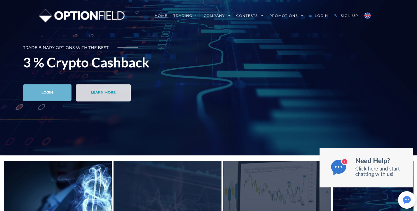 Optionfield - MT4 Binary Options Trading with a global broker