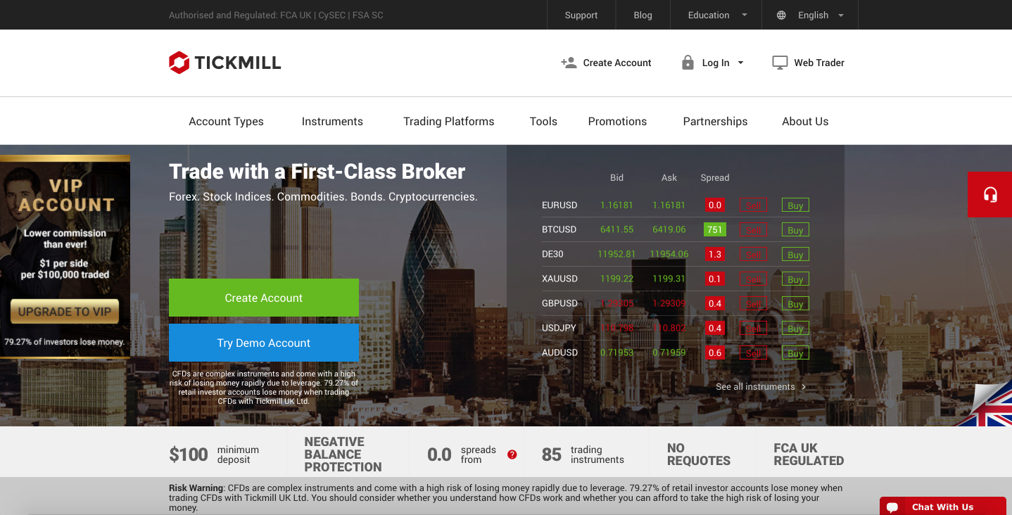 Tickmill – review of global Forex & CFD broker