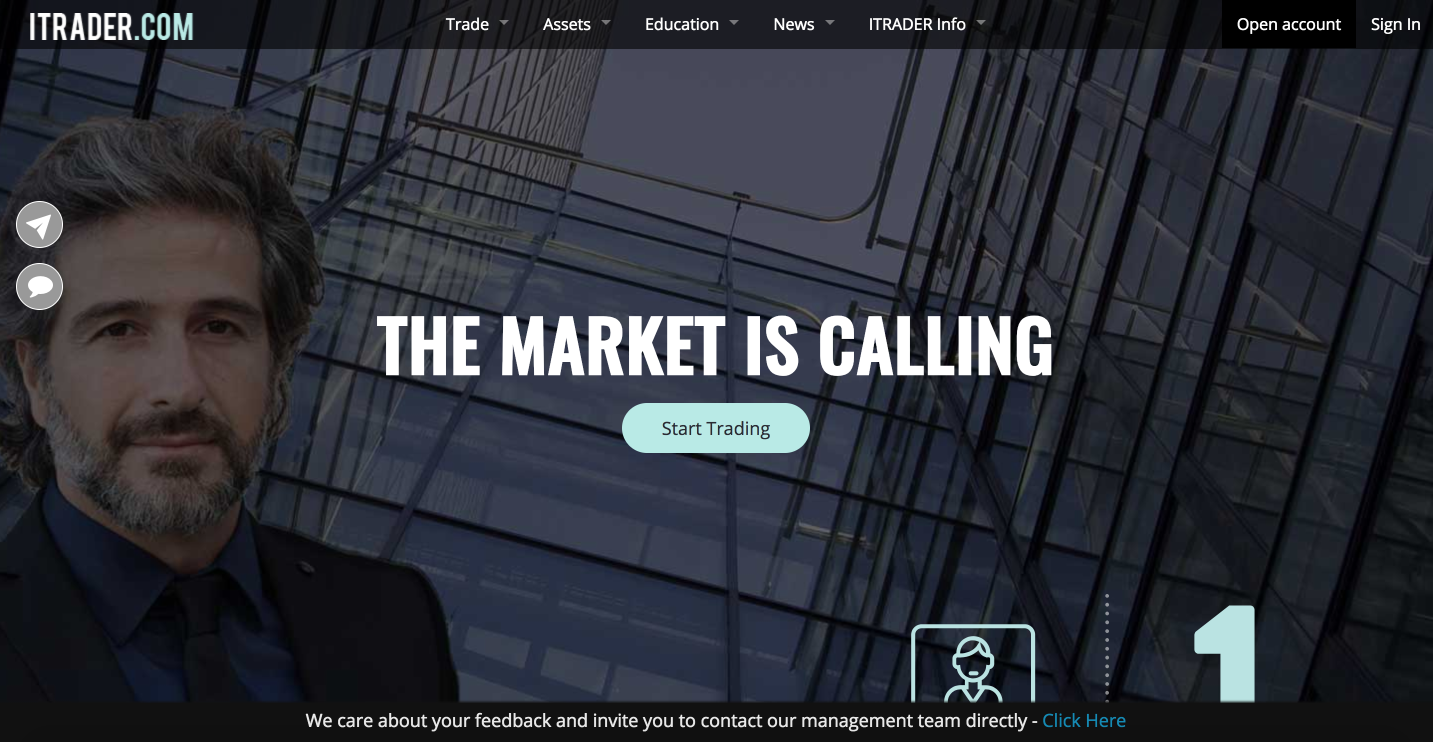 The market is calling to the advanced trading platform ITRADER