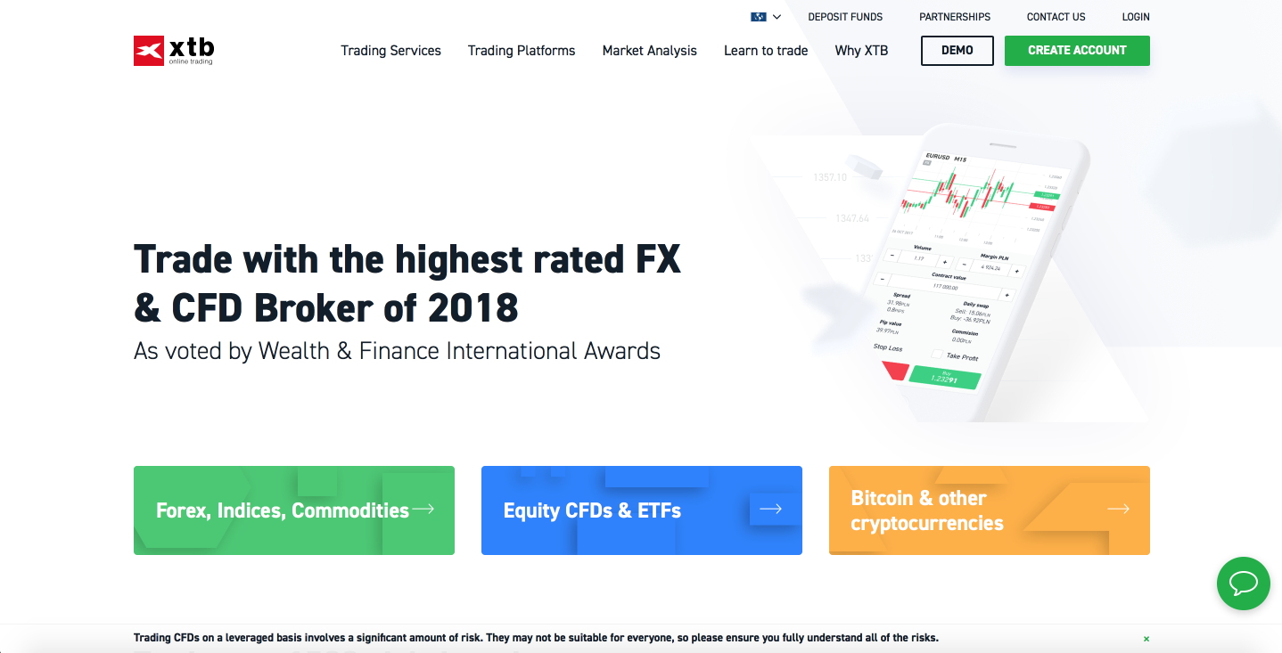 XTB review of European FX broker