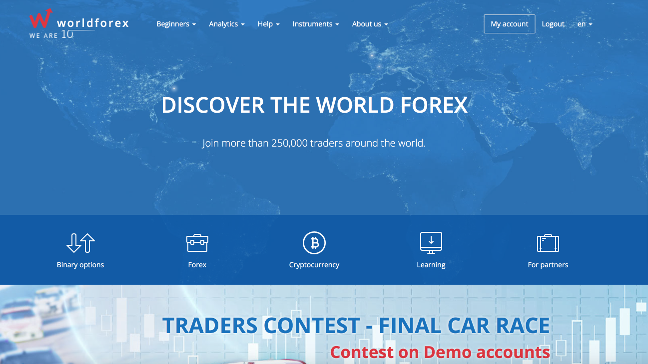 Discover the review of the World Forex trading platform