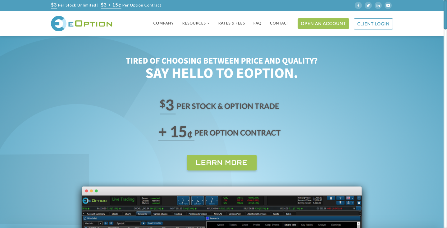 eOption review of trading platform