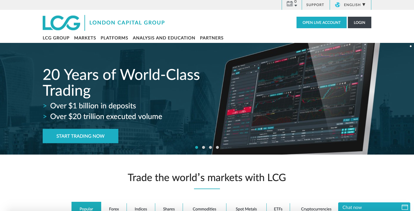 LCG (London Capital Group) trading platform review