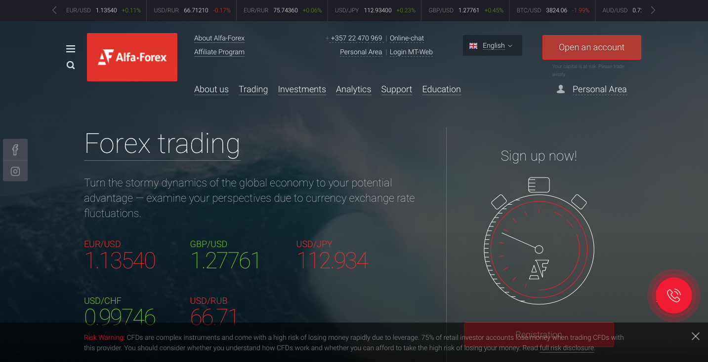 Alfa-Forex CFD trading platform review