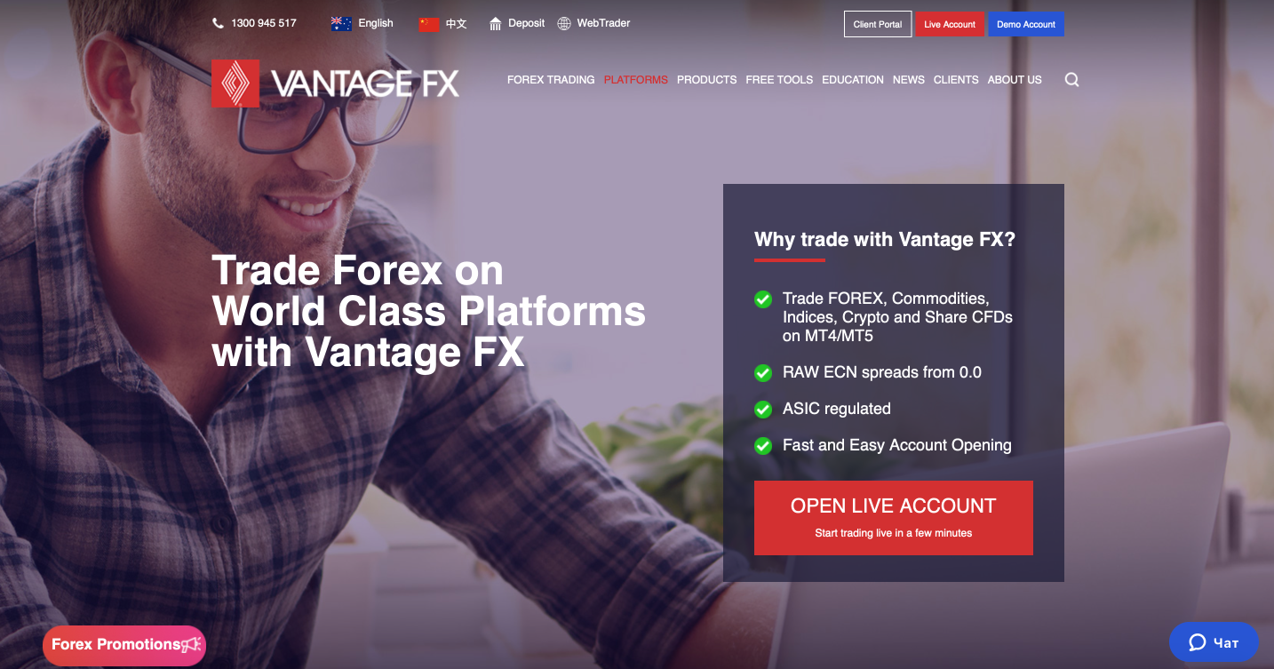 Vantage FX Australian regulated forex broker review