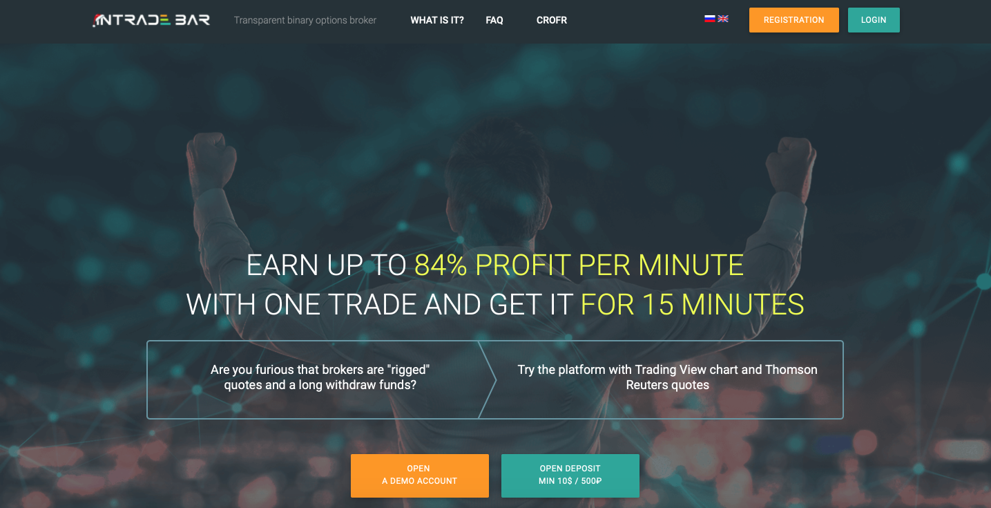 INTRADE.BAR - review of a transparent binary options broker