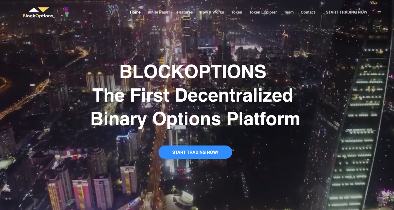 Blockoptions.io cryptocurrency binary options