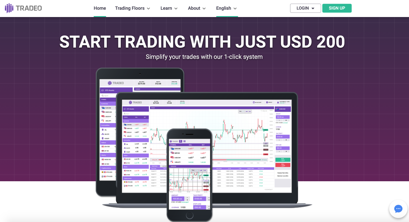 Tradeo forex & CFD broker overview