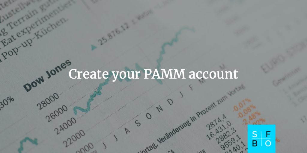 Create your PAMM account
