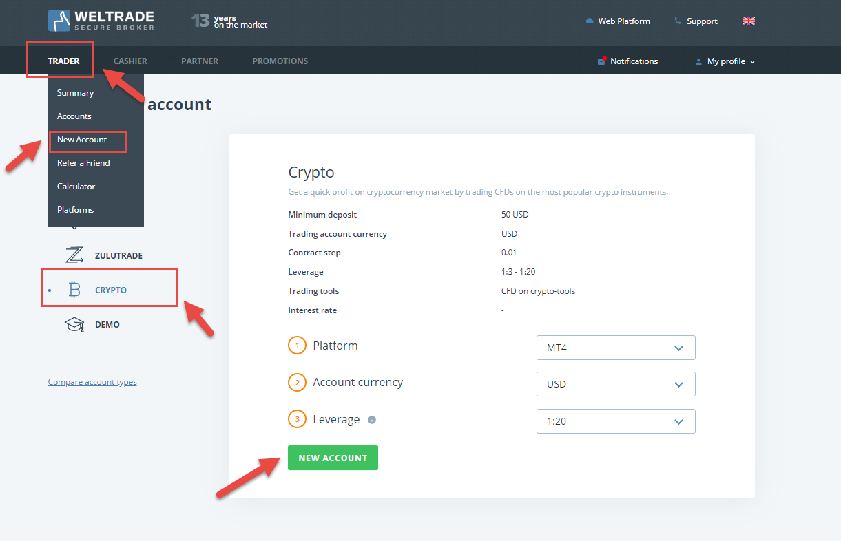 Weltarde cryptocurrency trading without commissions