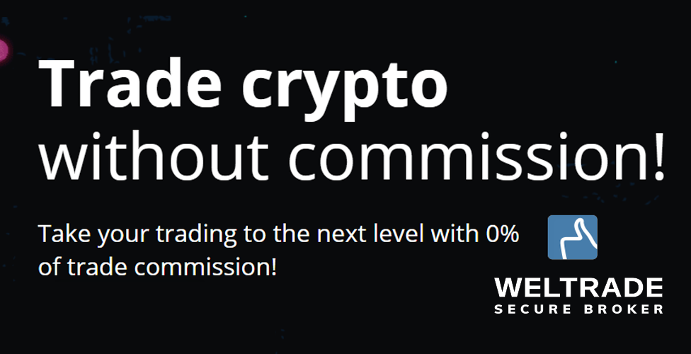 Trade cryptocurrency with MetaTrader commission-free with broker Weltrade!