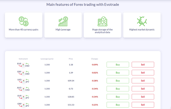 Benefits of trading on Evotrade